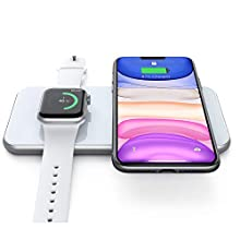 Hinyx Wireless Charger Pad,Wireless Charging Dock Station for iWatch 5/4/3,Airpods 2/Pro,Fast Wireless Charging Pad for iPhone SE/11/11 Pro/XR/XS Max/XS/X/8P/8,Samsung Galaxy S6 to S20/Note 5 to 10+