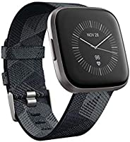 Fitbit FB507GYGY Versa 2 SE (NFC) Smartwatch - Smoke Woven Band/Mist Grey Aluminium Case