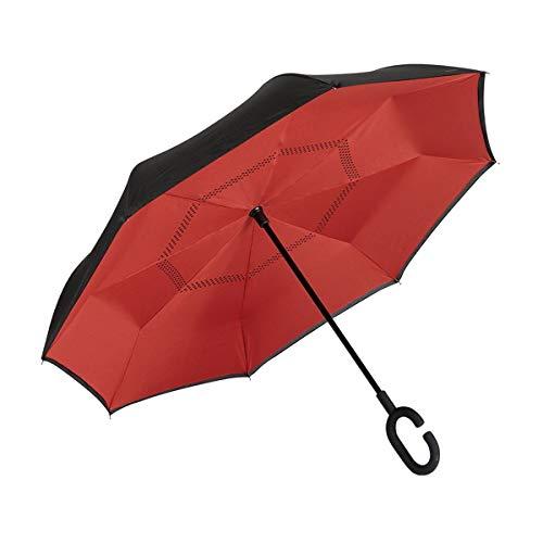 EZPELETA Paraguas inverso Reversible. Antiviento Manual
