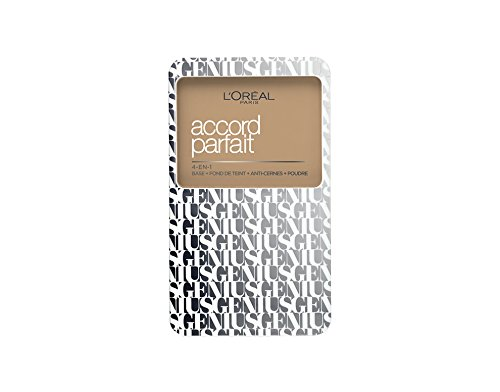 L'Oréal Paris A7888700 Accord Parfait Genius 4 in 1 Fondotinta Compatto 4N, Beige