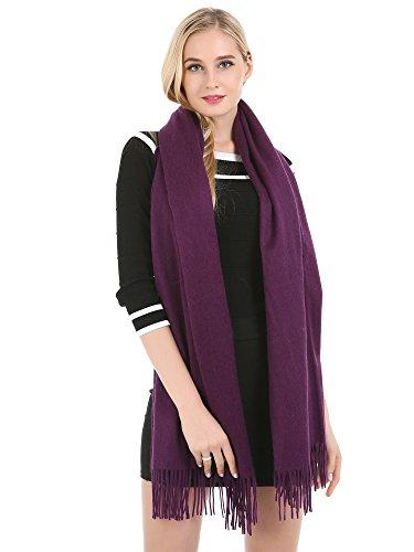 Saferin Extra Large Echarpe Cachemire et Laine Mélangée Châle Etole Pour Femmes Hommes 31.Purple