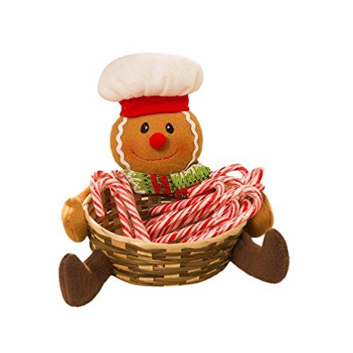 Malloom® Weihnachts Süßigkeiten Ablagekorb Dekoration Weihnachtsmann Ablagekorb Geschenk (Mit Beste Dekorationen Halloween Outdoor)