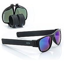Sunfold Eternal Sunshine Gafas de Sol Enrollables, Hombre, Negro, Talla Única