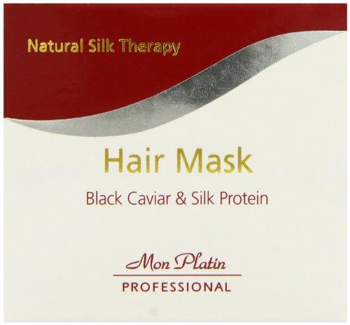 Mon Platin Professional 500ml Natural Silk Therapy Black Caviar e proteine della seta capelli maschera