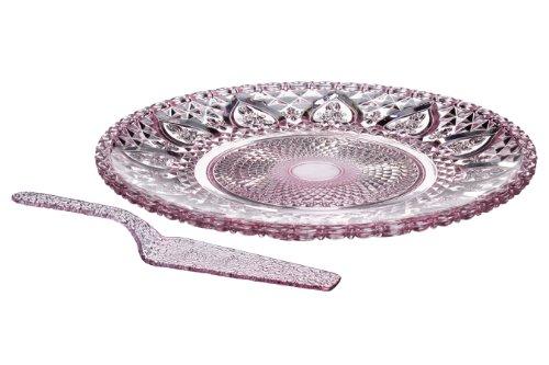 Premier Housewares 1402619 Pelle à Tarte en Verre Rose