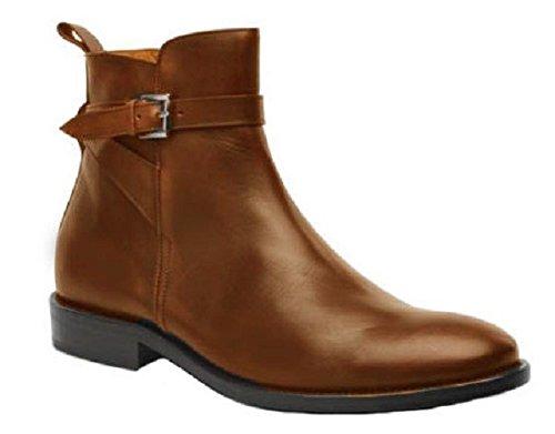 Chaussures bottines model FRANCOIS en cuir par HGilliane Design Eu 33 au 46 brown