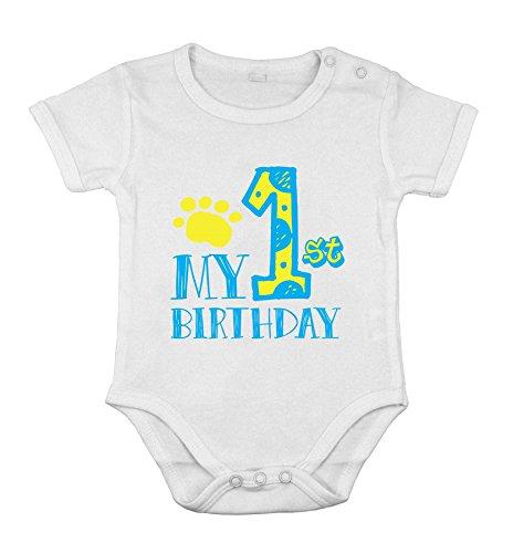 Body-soul-n-spirit Mein 1. Erstes Geburtstags-Neugeborene Baby-Jungen-Partei-Kurz EIN Stück Spielanzug