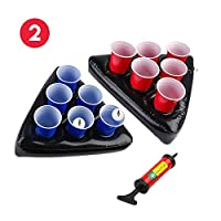 Emballage inclus:   2x chapeaux Beer Pong  1x pompe  2x balles de ping-pong  6 tasses rouges  6 tasses bleues   Excellente qualité, plastique extra épais, durable, résistant aux rayures et aux déchirures. Les flancs ultra-hauts stabilisent le rack p...