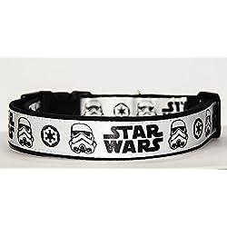La Guerra De Las Galaxias Star Wars Stormtrooper Collar Perro Hecho a Mano Talla M sin Correa Dog Collar HandMade