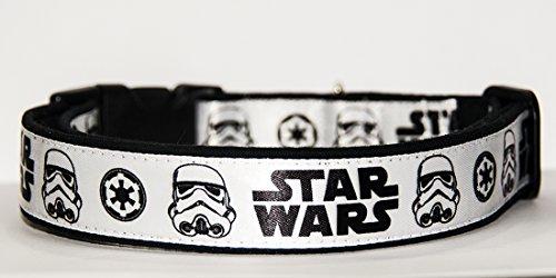Star Wars Stormtrooper Handgemachte Hundehalsband HandMade Dog Collar Größe (Star Wars Dog)