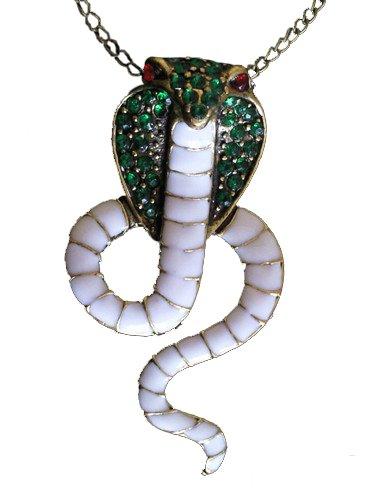 Klaritta Kostüm Schmuck Unisex Vintage Halskette mit Cobra Schlange Anhänger neues Design (Kostüme Cobra Schlange)