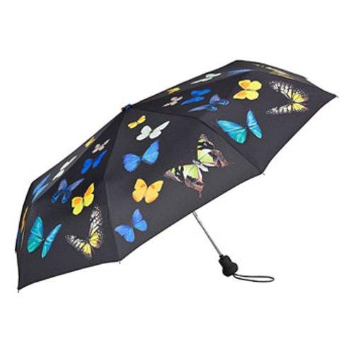 VON LILIENFELD Regenschirm Taschenschirm Automatik Damen Butterfly Schmetterlingstanz