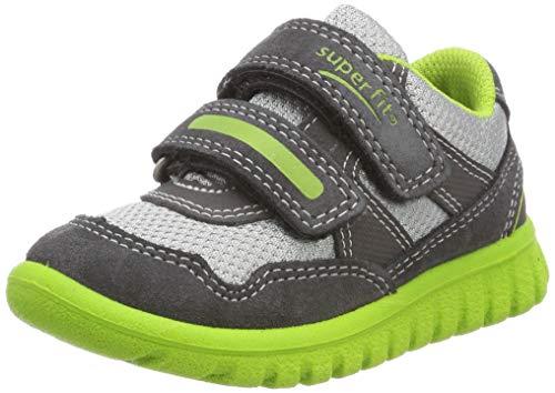 Superfit Baby Jungen SPORT7 Mini Sneaker, Grau/Grün 20, 24 EU