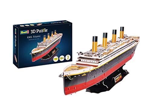 Revell 3D Puzzle 00170 RMS Titanic, das wohl berühmteste Schiff Welt in 3D entdecken, Bastelspass für Jung und Alt, farbig