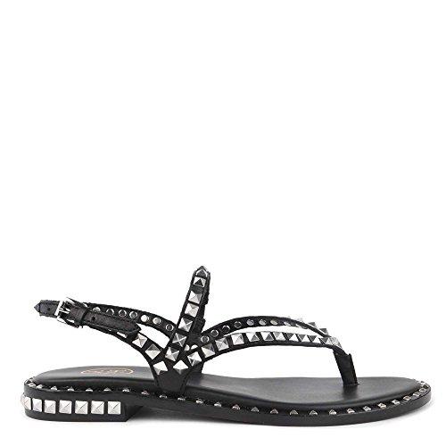Ash Footwear Peps Black Studded Flat Sandal 37 EU Schwarz Black Studded Flat