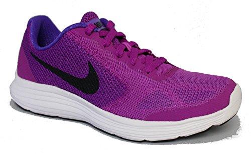 Größe Kinder Schuhe Nike 3 Mädchen (Nike Kinder Laufschuh REVOLUTION 3 (GS) violet schwarz weiß, Größe:38.5)