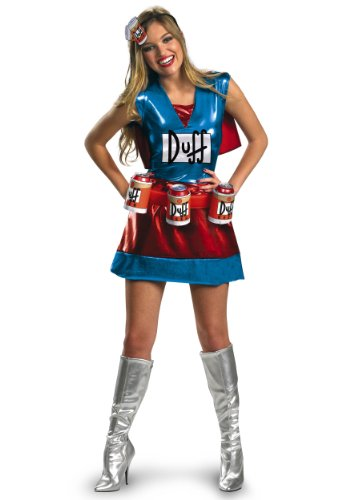 The Simpsons Duffwoman Deluxe Costume (Adult Large)