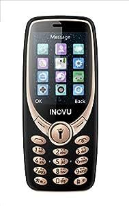 Inovu A9 Dual Sim Basic Mobile Phone (Black-Gold, Upto 32GB)