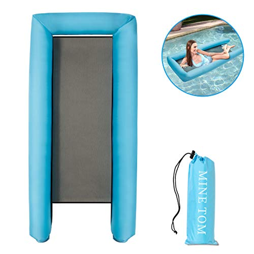 Minetom Aqua Lounge Water Hammock Pool Lounge Filet Matelas Gonflable Jouets de Piscine pour Adultes Spring Float 236 x 24 cm ... (Blau)