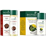 Biotique Bio Berberry Hydrating Cleanser For All Skin Types, 120Ml and Biotique Bio Dandelion Visibly Ageless Serum, 40 ml