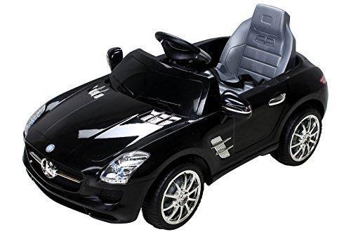 Niños Coche eléctrico Mercedes Con licencia SLS AMG - Negro