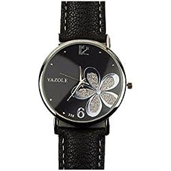 Women Watches - Kingwo Female Clock Quartz Watch Ladies Quartz Wrist Watch(Black &White)