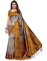 6451952dc8689c TRYme Fashion Women s Art Silk Party Wear Saree with Blouse Piece (Free  Size
