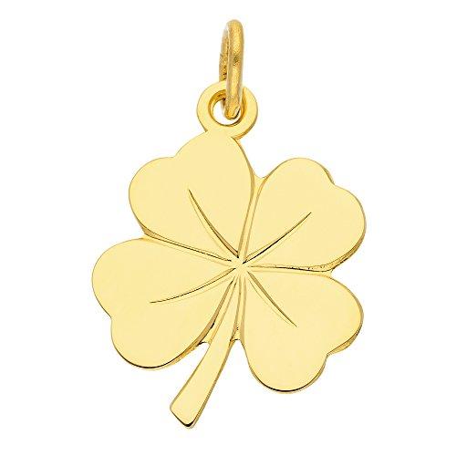 Gold Anhänger Kleeblatt 8 k 333 Gelbgold