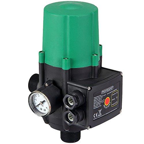 Bomba de presión de agua con indicador de presión | presión Bar | Interuptor | sin cable | interuptor automático | Medidas: 22,5 x 14, 5 x 12 cm |