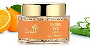 BlissTree Under Eye Gel with Vitamin D, Aloe Vera, Vitamin E, Fruit Extracts, Vitamin A Reduces Dark Circle and Puffiness
