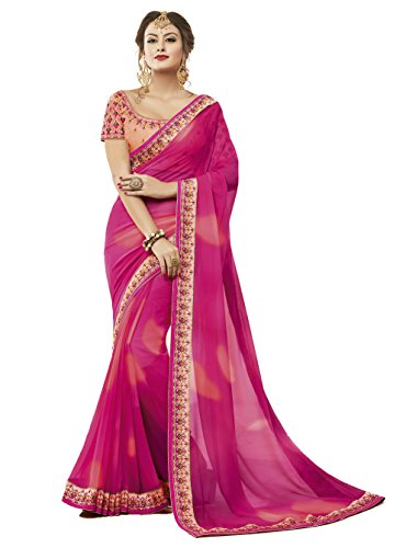 Tagline Women's Clothing Saree Collection in Multi-Colored Georgette For Women Party Wear,Wedding...