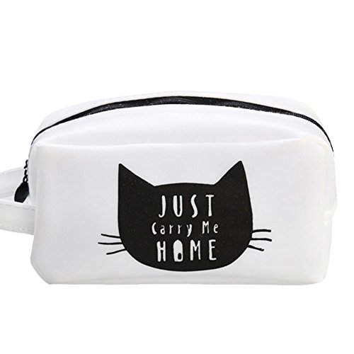 3# : ALCYONEUS Adorable Cats Cute Pencil Case Silicone Pen Storage Zipper Pouch Student Gift (3#)