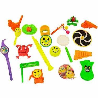 Juguetes y Accesorios para Bolsas de cumpleaños o piñatas,  100 Unidades para Niños y Niñas.