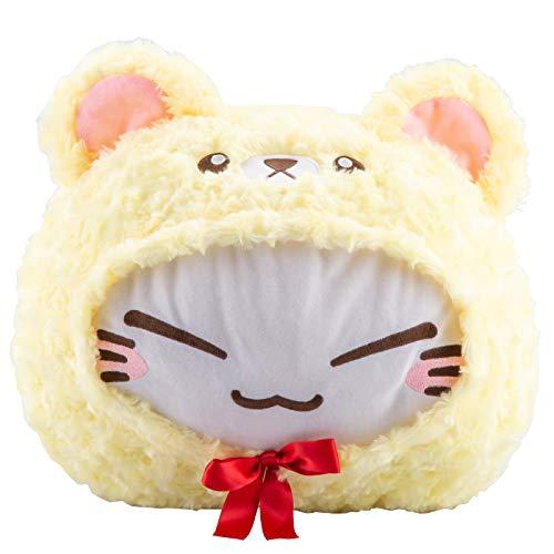 Meralens Nemu Neko Nemuneko Sleepy Cat Plüsch Teddy Bär Kostüm Gelb 40 x 30 x 22cm Plüschtier Plüschi Kuscheltier Katze Limited