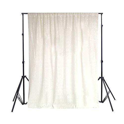 ShinyBeauty Pailletten Hintergrund Weiß 2FTx7FT