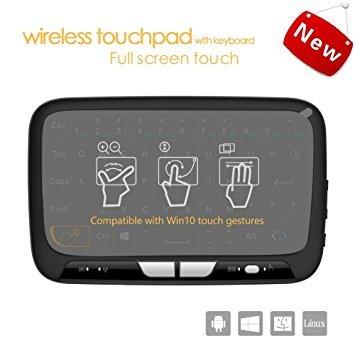 Pocket 2.4Ghz Mini Wireless Tastatur Maus mit vollem Touchpad wiederaufladbar für Android / Google / Smart TV, Linux, Android TV Box, Windows PC, HTPC, IPTV, Himbeer Pi, XBOX 360, PS3, PS4 Wireless Remote Pocket