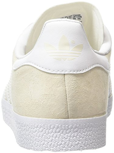 adidas Gazelle, Baskets Basses Mixte Adulte, Taille Unique Blanc (Off White/White/Gold Met)