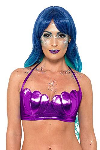 Bh Kostüm Muschel - Smiffys SMIFFY 'S 47556Mermaid shell Bikini BH-Top, Damen, Violett, x-small-medium, UK 06-14