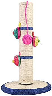 Natural Sisal Cat Scratching Post Tree Tower With Ball Scratcher Toy For Cats Kittens