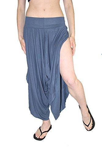 Damen Pumphose GOA Hose Seite offen yoga alternative Bekleidung - Denim Für Bekleidung Frauen