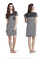 Modal Cotton Nightdress Striped Short pyjamas