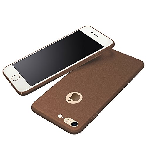 Anccer iPhone 7Coque [Serie Mat] Resilient Conception Ultra mince et absorption des chocs pour Iphone7 Smooth Gold Gravel Brown