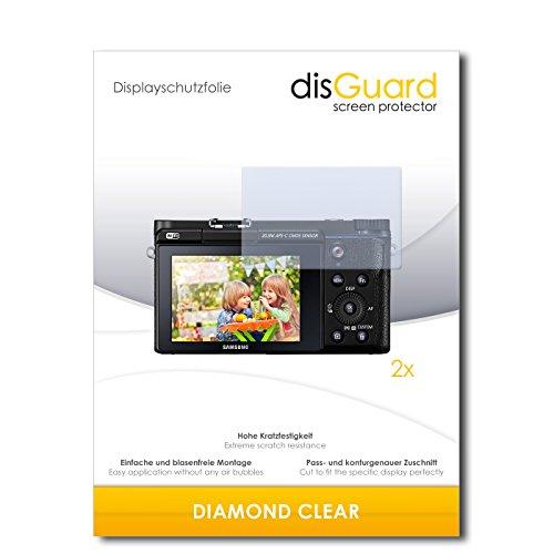 disGuard 2 x Displayschutzfolie Samsung NX3300 Schutzfolie Folie DiamondClear unsichtbar