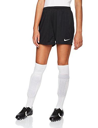 Nike park ii, pantaloncini sportivi donna, black/white, m