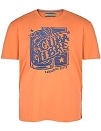 Camiseta naranja Redfield en talla grande y estampada