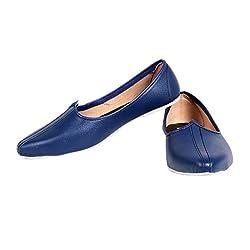PAHNAWA BLUE JUTE JALSA MOJARI FOR BOY,S
