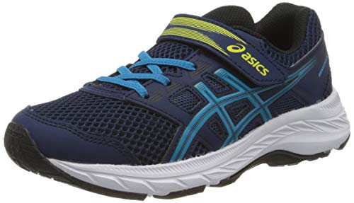 Asics Unisex-Child Contend 5 PS Running Shoe, Blue Expanse/Island Blue, 34.5 EU
