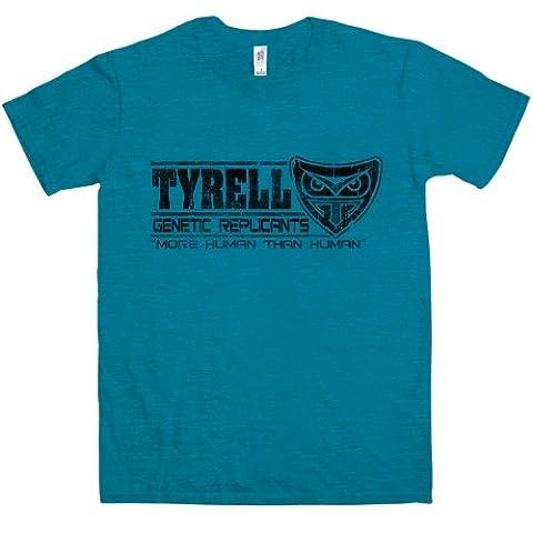Refugeek Tees - Hommes Tyrell Replicants T Shirt - X-Large - Antique Sapphire