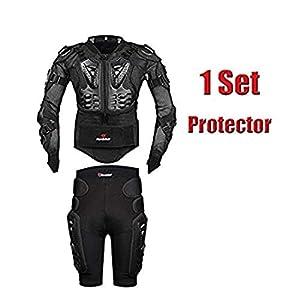 AKAUFENG Motorrad Protektorenjacke mit Getriebe Kurzen Hosen Protektorenhemd Motorrad S-5XL
