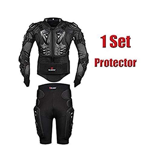FULUOYIN MTB Protektorenjacke mit Hose Panzer Protektorenhemd für Radfahren Reiten Motorrad Fahren S-5XL